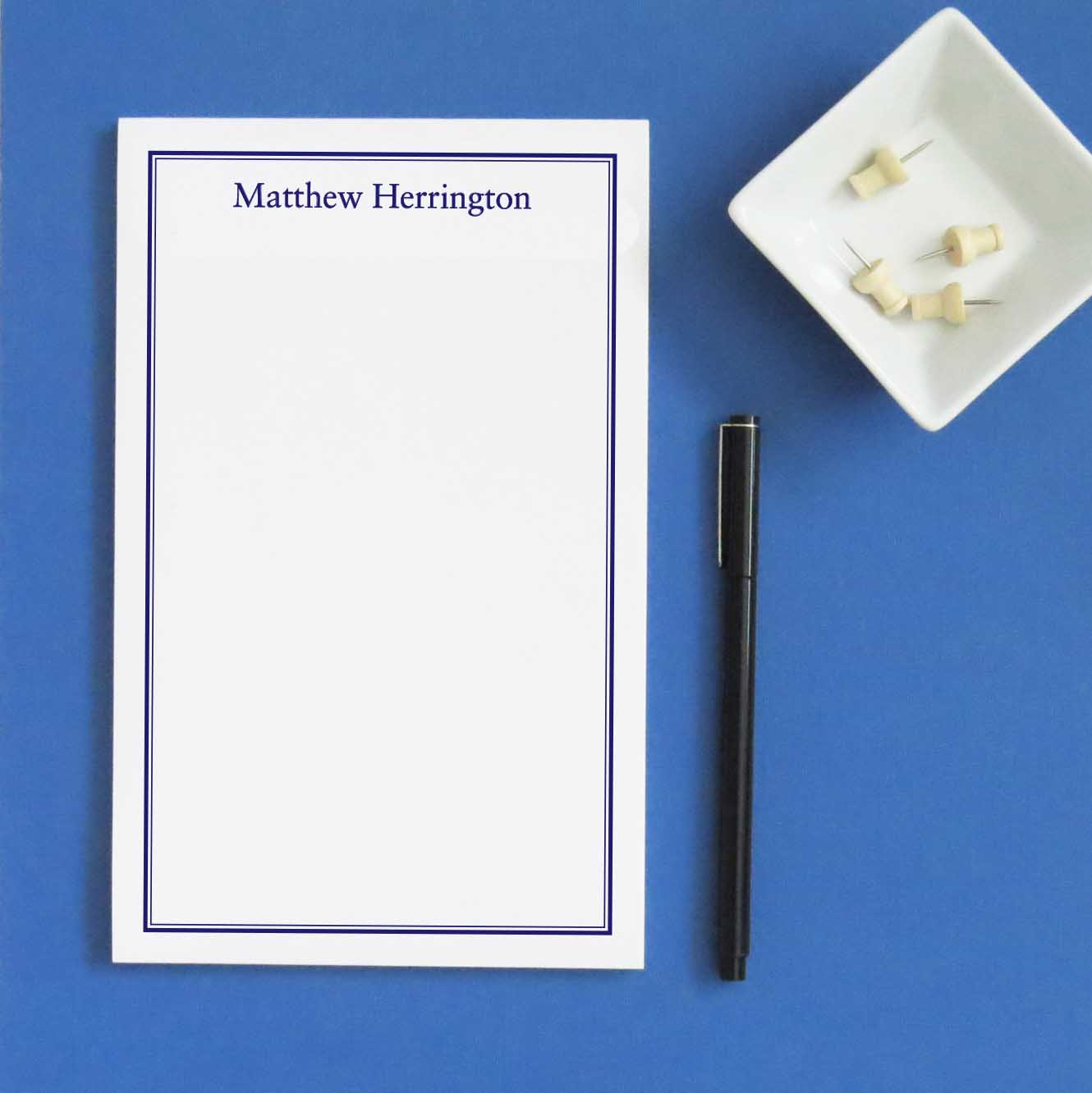 NP126 name and border personalized note paper professional business
