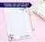 NP129 modern floral personalized notepad set florals flower script lined