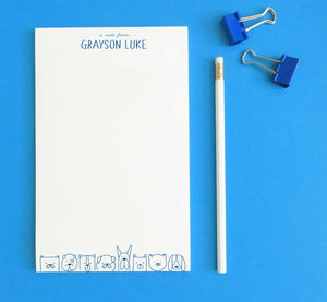 NP134 dogs personalized stationery notepad for kids animal dog a note from