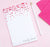 NP135 hearts personalized stationery notepad for girls hear red script