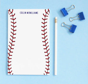NP143 baseball stitch note pads personalized set sports sport paper
