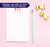 NP148 personalized ice cream note pads for kids icecream cones paper lined