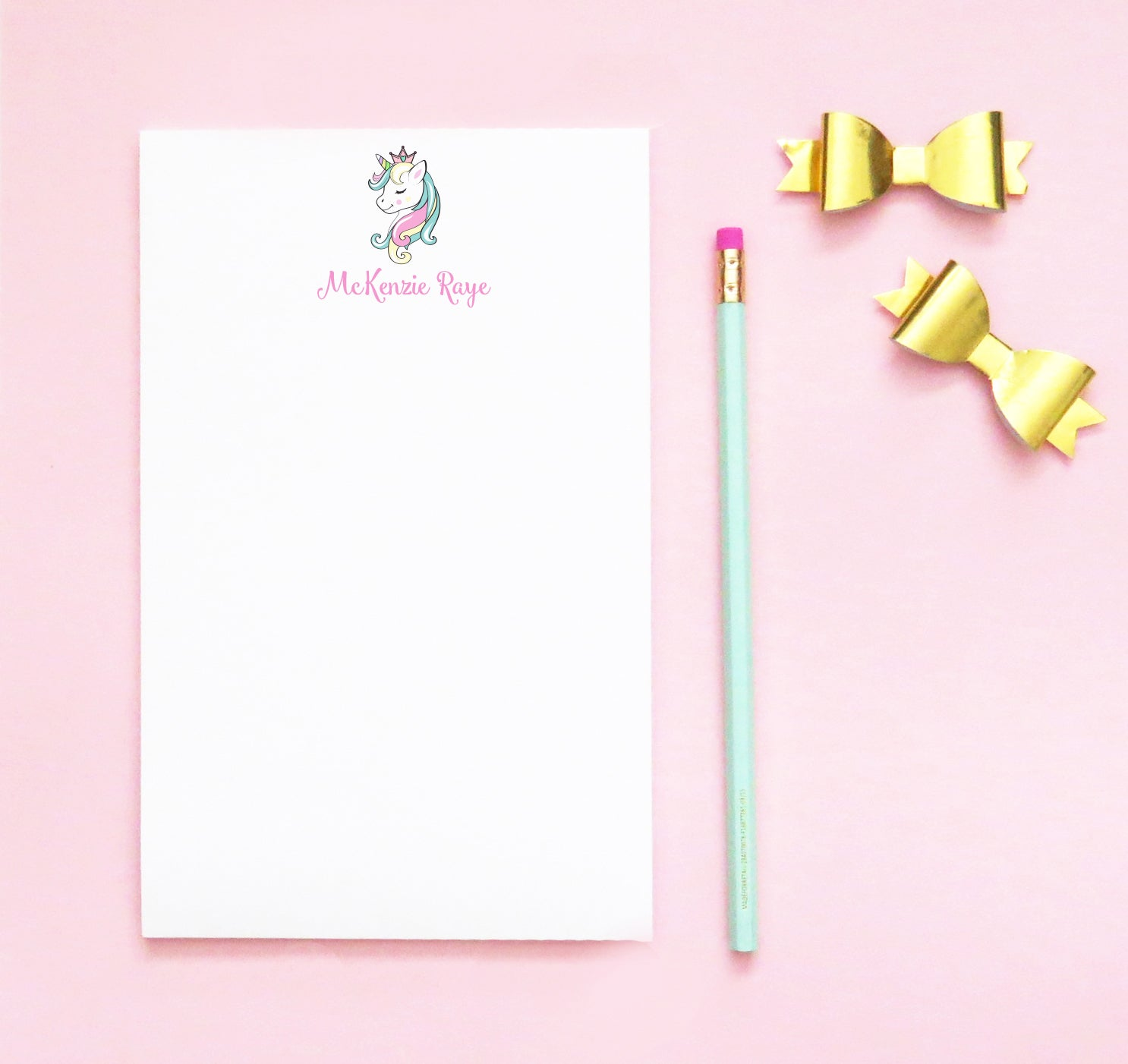 NP154 personalized cute unicorn notepads for kids unircorns girls paper
