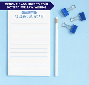 NP190 a note from personalized writing paper for boys banner kids paper lined