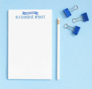 NP190 a note from personalized writing paper for boys banner kids paper