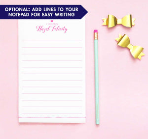 NP191 a note from heart personalized writing paper set polka dot line bottom lined