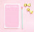 NP195 pink personalized notepad sets for girls writing paper