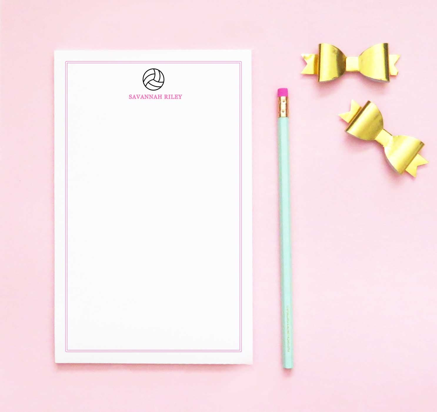 NP200 volleyball personalized stationery paper sports border notepad sport