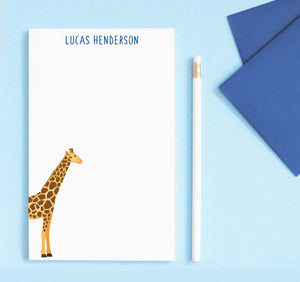 NP209 cute giraffe notepad personalized for kids zoo animal classic