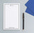 NP217 professional 2 letter monogram personalized notepads with border classic business