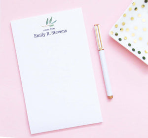 A Note From Personalized Eucalyptus Notepads Set