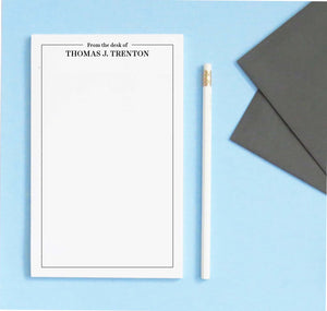 NP230 from the desk of personalized notepads with classic border professional business men women