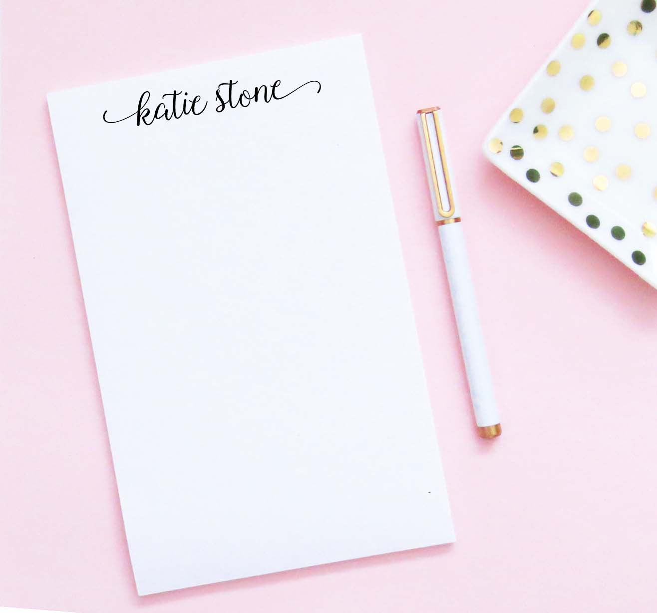 NP234 simple modern script notepads personalized for women elegant