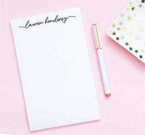 NP235 womens script font notepad personalized set elegant simple