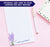 NP239 modern lavender plant notepad personalized set purple elegant lined