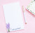NP239 modern lavender plant notepad personalized set purple elegant