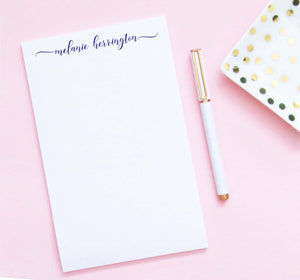 NP242 sweet script font personalized notepad for adults simple classic elegant