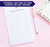 NP243 modern ivory lilly flower notepad personalized for women simple lind