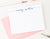 PS001 modern script personal stationery for women men simple classic elegant personalized flat notecard 1
