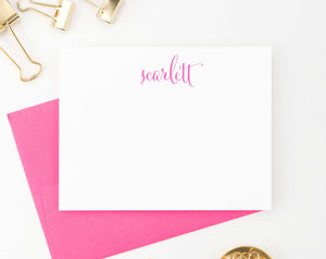 PS002 Simple Script Personalized Stationary for Women modern classic