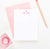 PS020 heart and name customized stationery note cards for girls personalized classic simple 2