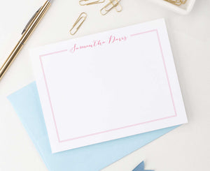 PS023 Simple thankyou cards set with name and border girls classic 1