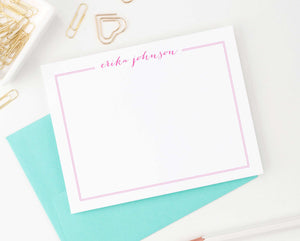 PS023 Simple thankyou cards set with name and border girls classic