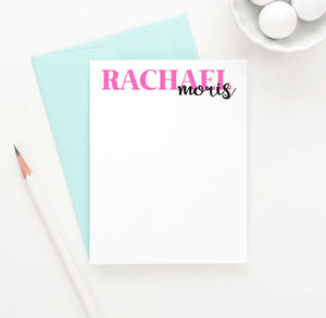 PS027 first and last name personal stationery set personalized girls classic simple 1