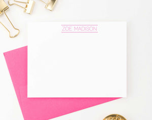 PS031 modern block font personal stationery sets simple personalized
