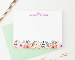 Floral A Note From Personalized Stationery Gift Set