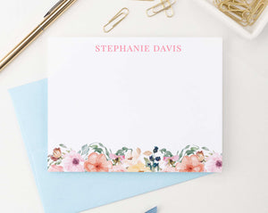 PS063 floral stationary personalized for women elegant simple name 2