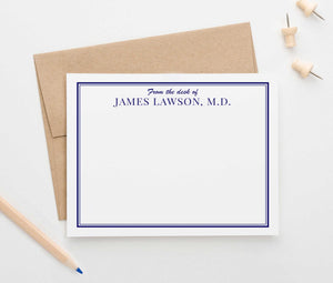 PS067 professional mens personalized stationery from the desk of personalized business border 1