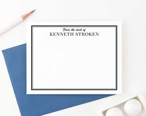PS067 professional mens personalized stationery from the desk of personalized business border