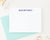 Simple Block Font Personalized Stationery Gift Set