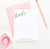 PS074 thanks corner script personalized flat note cards women men classic