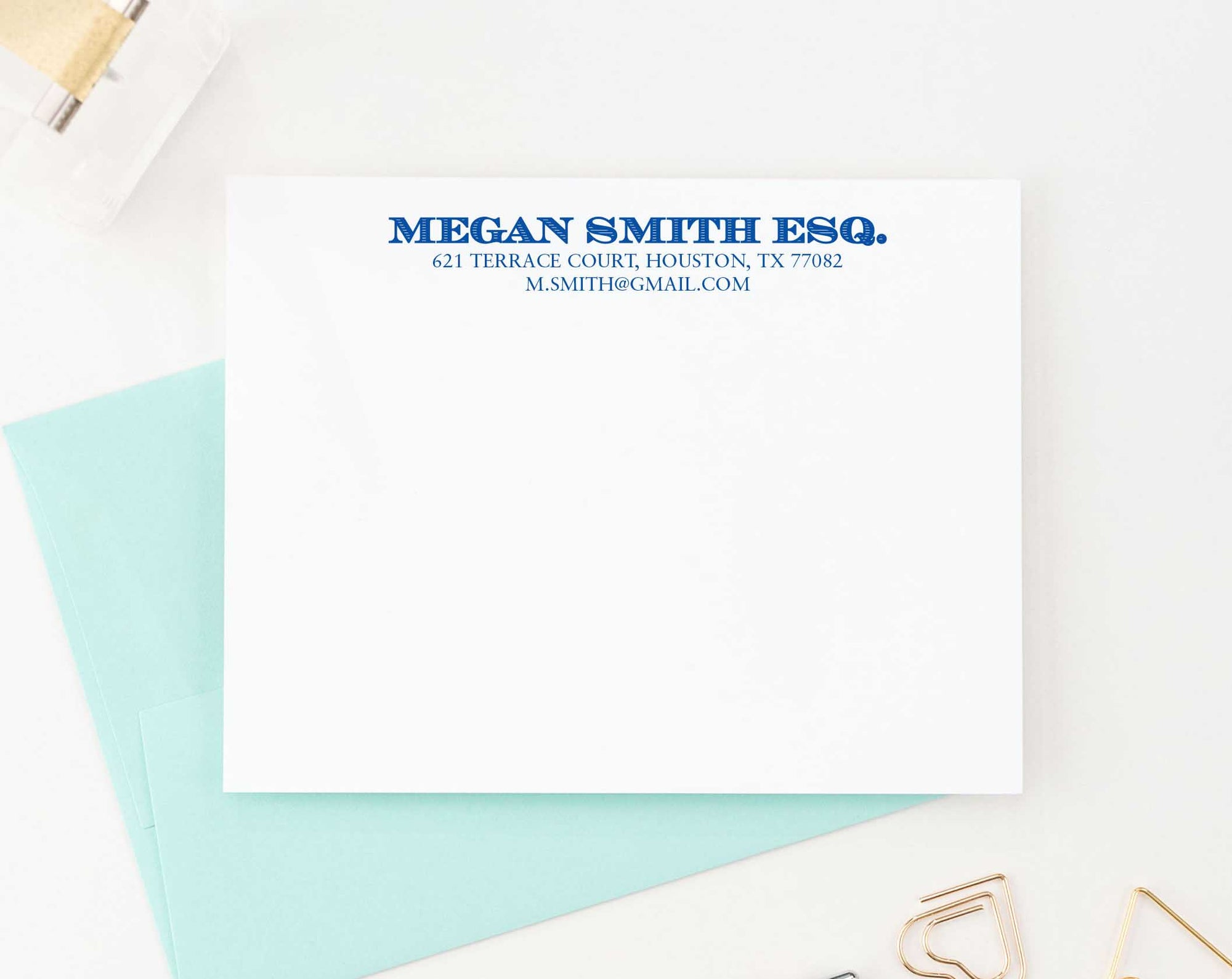 PS075 adults business personalized stationery note cards adult simple classic