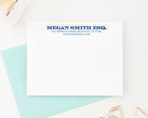 PS075 adults business personalized stationery note cards adult simple classic 1