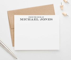 PS077 from the desk of personalized stationery set adult classic professional business