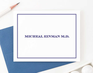 Professional Folded Personalized Stationery Sets for Men and Women
