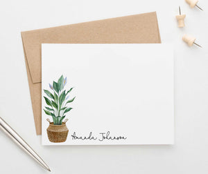 PS116 potted plant personalized stationery set adult elegant plants 1