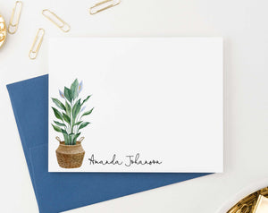 PS116 potted plant personalized stationery set adult elegant plants 2