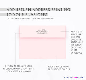 Cute Pink Watercolor Floral Corners Personalized Stationery