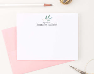 PS131 eucalyptus personalized stationery for women a note from plant greenery 2nd photo