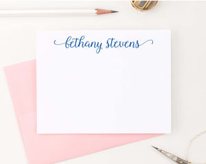PS138 sweet script stationery personalized for women simple cute 2nd photo