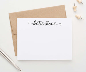 PS138 sweet script stationery personalized for women simple cute