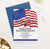 RPI022 military retirement party invitation personalized american flag