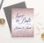 SDI045 elegant personalized rose gold glitter save the dates navy sparkles 2