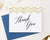 TY019 gold chevron thank you notes folded wedding script classic