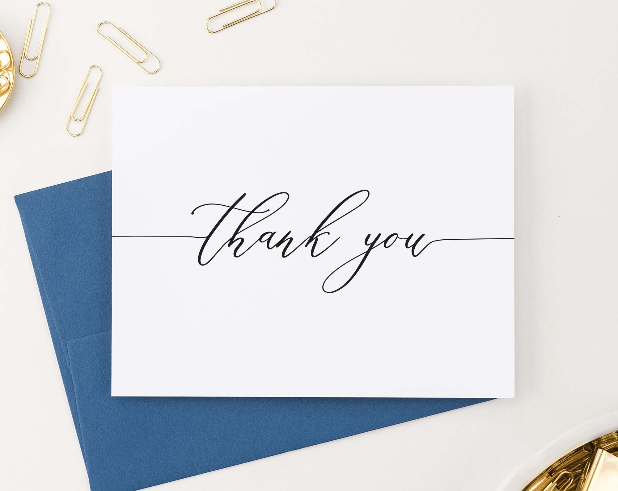 TY029 classic script thank you notes for women simple folded thankyou