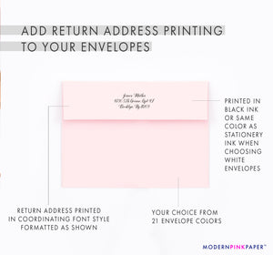 Simple Pink Elephant Thank You Notes